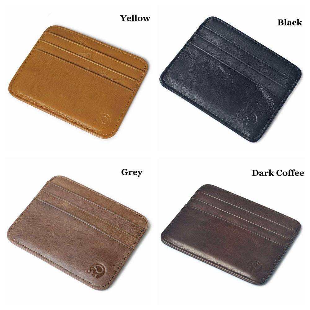 Fashion Luxury Mens Leather Coin Handbag Purses Wallets Card Case Holder Bag New