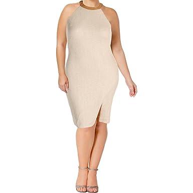 4dc07b100254 Lauren Ralph Lauren Leather Trim Cutout Back Halter Cocktail Day Dress