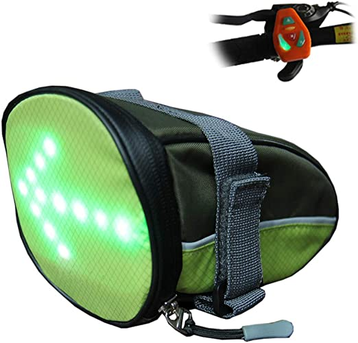Asiento Bicicleta Sillín Cuña Paquete Seguridad LED Luz Señal ...