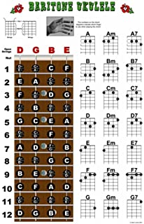 Amazon Com Baritone Ukulele Chords In A Case Dgbe Standard Tuning