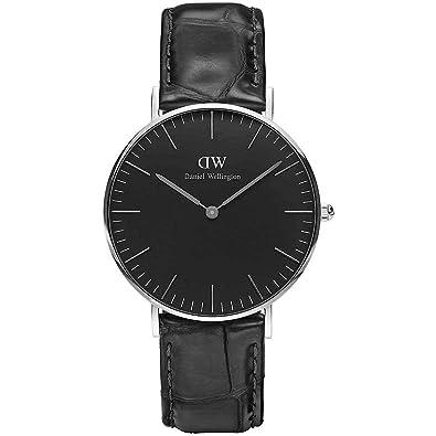 Daniel Wellington Reloj Mujer 36 mm Classic Black Reading Silver dw00100147: Amazon.es: Joyería