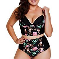 Luckycat Bikini Mujer Trajes de Baño con Relleno