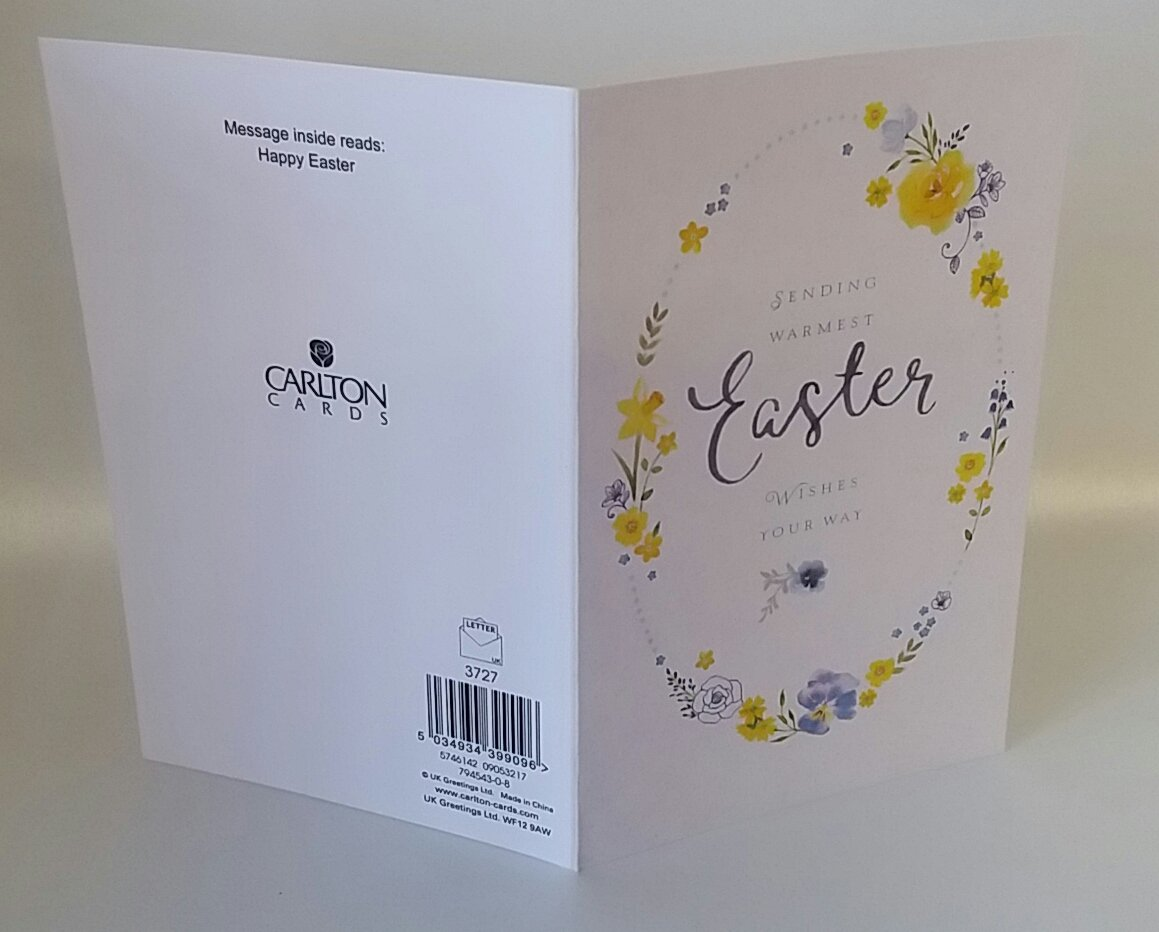 Amazon pack of 5 warmest easter wishes card by uk greeting amazon pack of 5 warmest easter wishes card by uk greeting new kitchen dining m4hsunfo Image collections