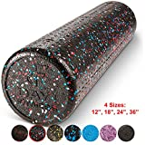 High Density Muscle Foam Rollers by Day 1 Fitness - Sports Massage Rollers for Stretching, Physical Therapy, Deep Tissue and Myofascial Release - For Exercise and Pain Relief – USA Speckled, 24