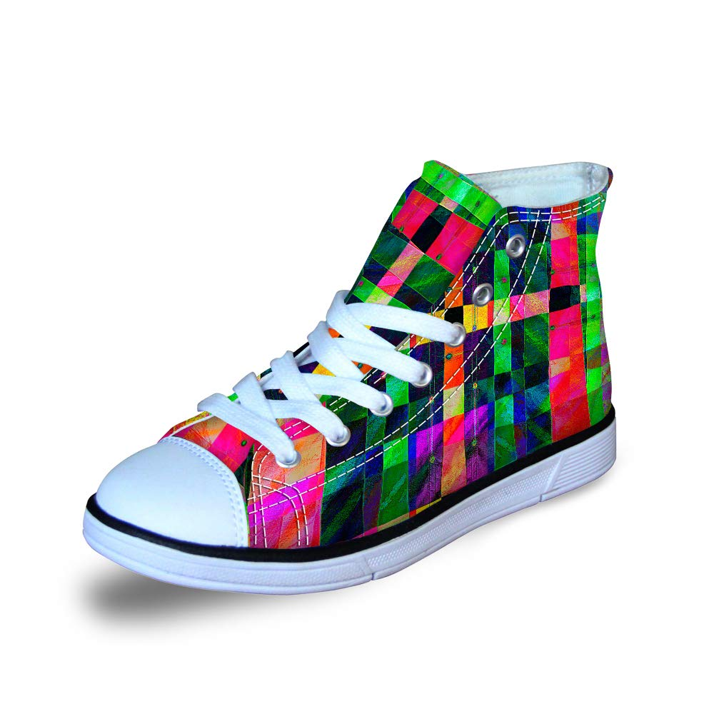 Stylish Printed Comfortable Girls Boys Little Kids High Top/Lace Up Shoes Sneakers