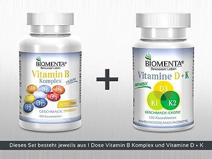 biomenta® Set – Vitaminas (B de vitaminas + Vitamina D3 + Vitamina K1 +