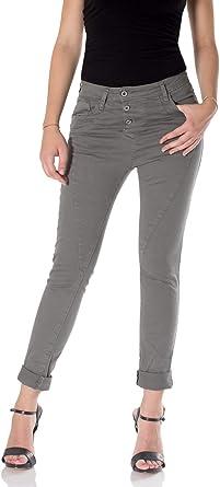 Please Pantalones Anchos Para Mujer S Gris Amazon Es Ropa Y Accesorios