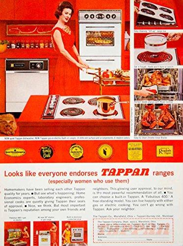 1962-Ad-Tappan-Gas-Electric-Range-Stove-Oven-Appliance-Retro-Red-Kitchen-YWD2-Original-Print-Ad