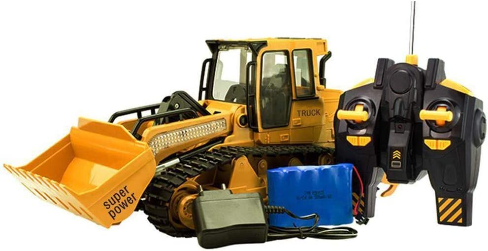Momola Remote Control 1:12 Excavator Shovel RC Cars Bulldozer 2.4G Excavator Construction Vehicle Brick Trucks Light Building Blocks Outdoor Adults Student Toys Gift