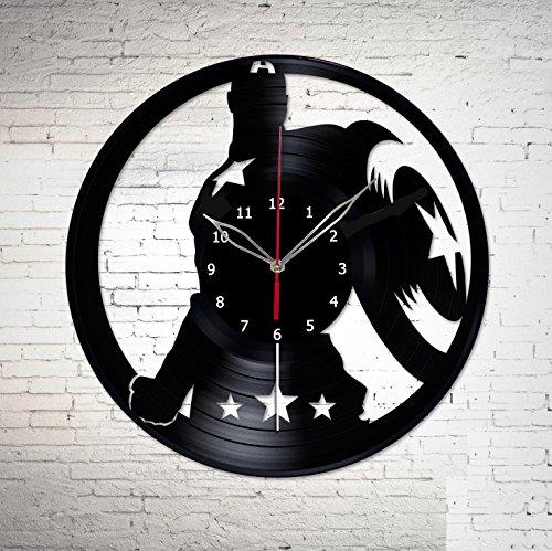 Captain America The Winter Soldier Vinyl Record Wall Clock