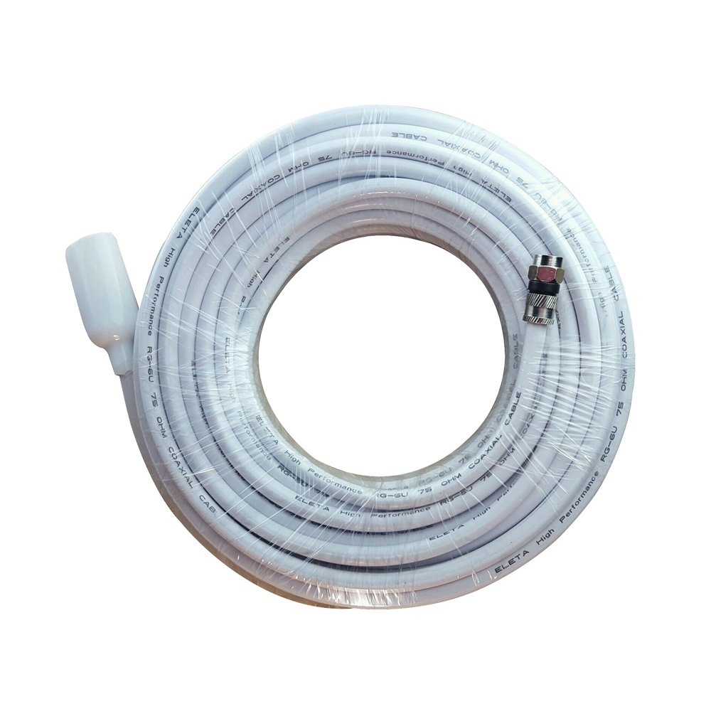 Amazon.com: FOWOD RG6 TV White Coaxial Cable, 50 Feet, with F-Male ...
