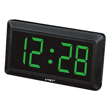 Homyl LED Reloj Digital de Pared Escriotorio Mesa con 4inchs Pantalla Grande - Enchufe UE - Verde: Amazon.es: Hogar