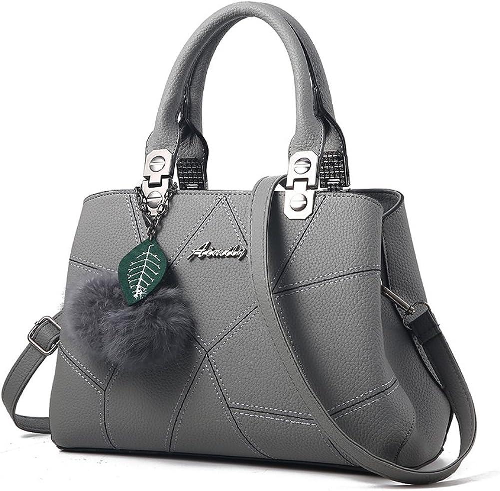 Charmore Damen Handtasche lässig Umhängetasche Taschen Frauen PU Leder Schultertasche