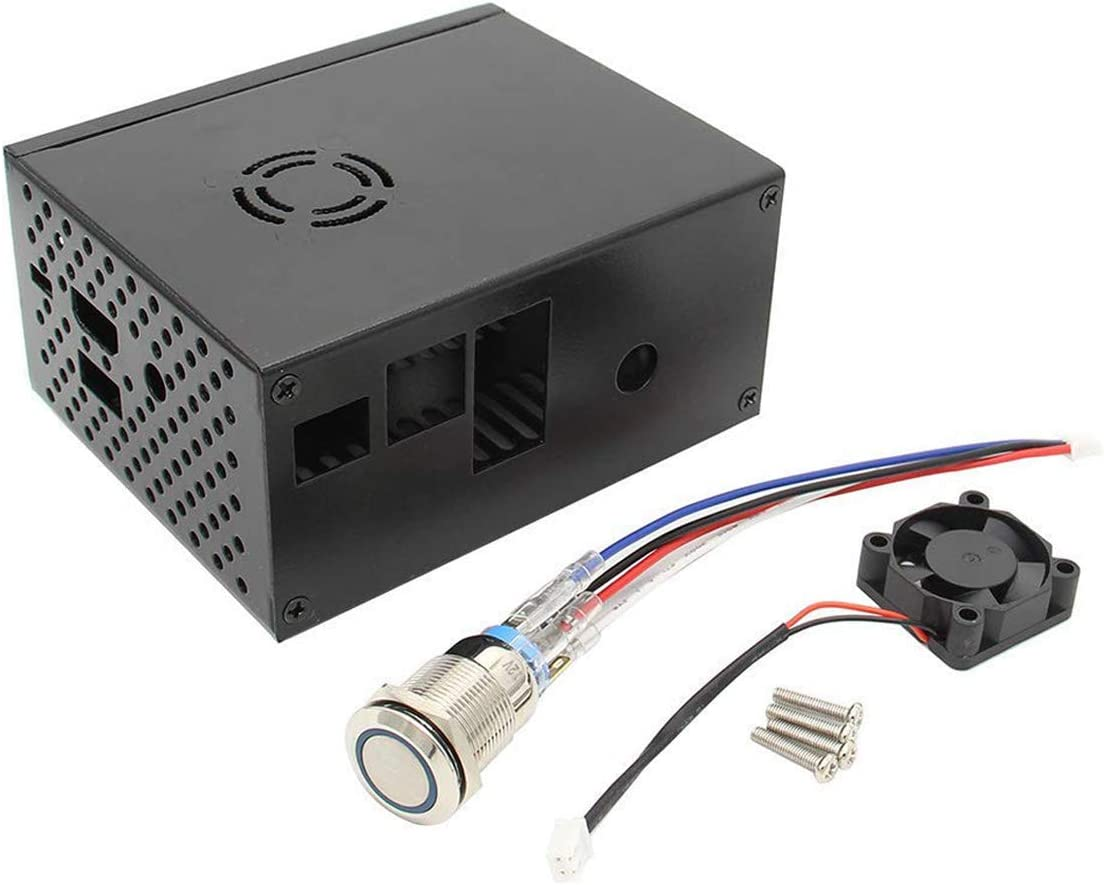 MakerHawk Estuche metálico Raspberry Pi con Ventilador de enfriamiento e Interruptor de Control de energía para Raspberry Pi X820 V3.0 SSD/HDD Placa de expansión de Disco Duro SATA de 2,5 Pulgadas: Amazon.es: