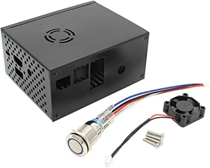 Raspberry Pi Case Mental With Fan And Power Control Computers Accessories