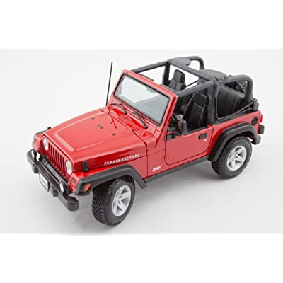 Jeep Wrangler Rubicon 1/18 Red: Toys & Games
