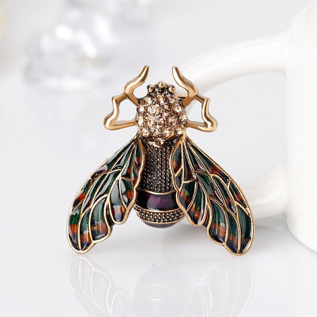 Elegante Brosche Insekt geformt Anstecknadel Damen Hochzeits Schmuck