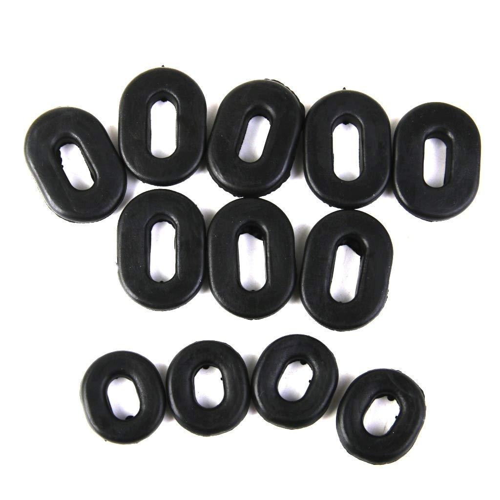 MonkeyJack 12pcs Rubber Grommet Single Side Panel Fairing Washer for Honda Motorcycle