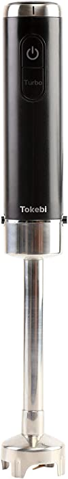 TOKEBI AirSlim Hand Blender, 400 Watt DC motor, Powerful titanium blades, light weight of 530g / 1.16lb (Black)