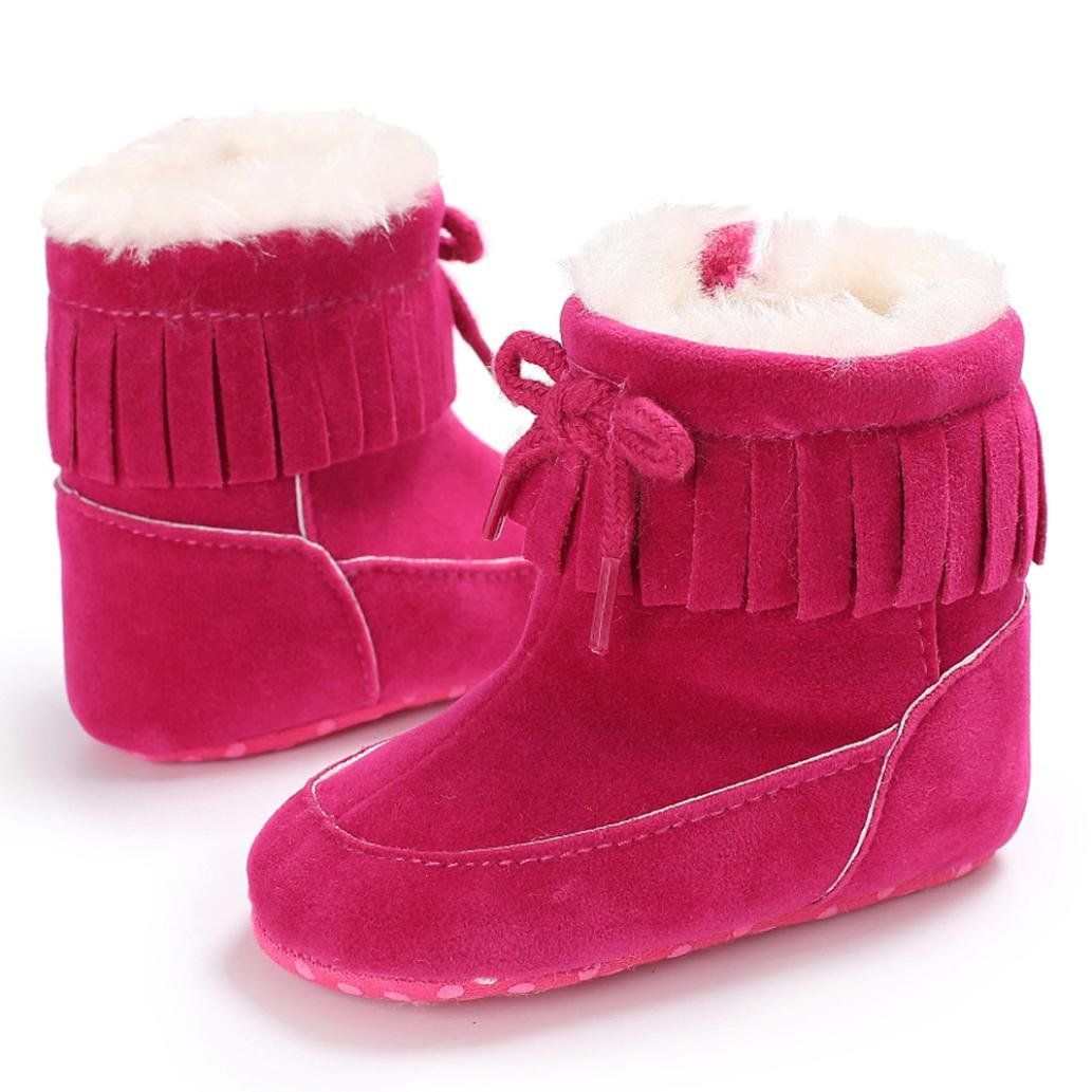 Lanhui/_ Sunny Baby Boys Girls Soft Sole Snow Boots Soft Crib Shoes Toddler Boots