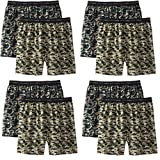 Hanes Men's 8Pack Camo Exposed-Waistband Boxer Shorts Boxers Underwear 2XL