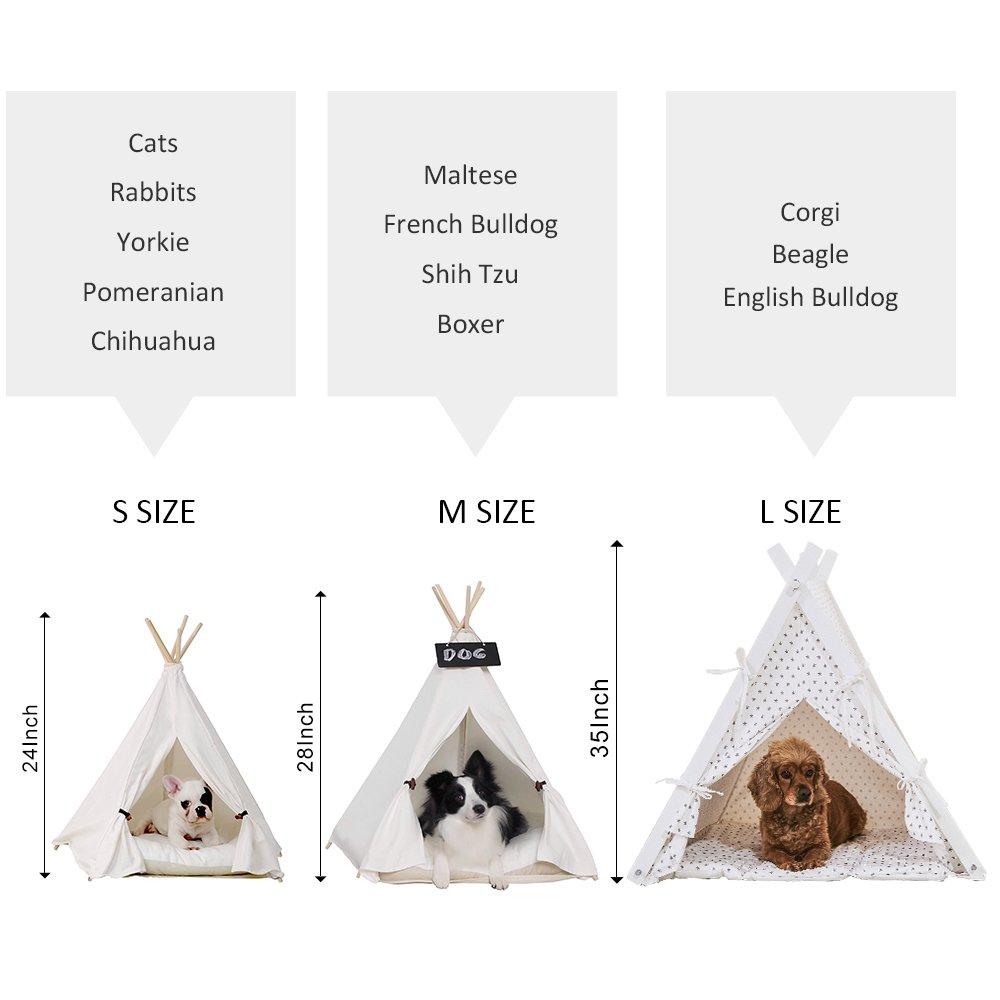han-mm Pet - Mascota Casa plegable mascota tienda muebles cama de gato con cojín 24 pulgadas: Amazon.es: Productos para mascotas