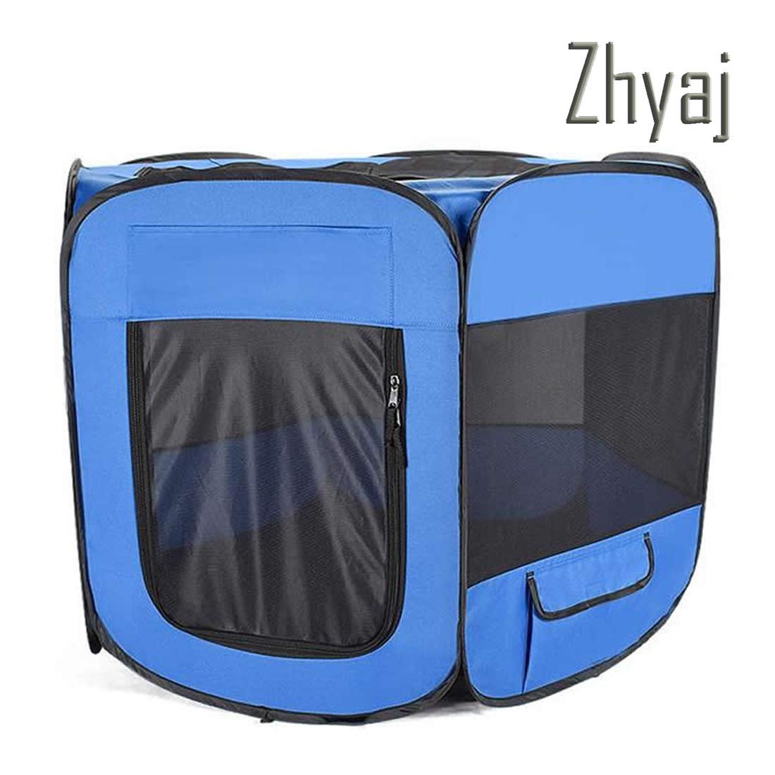 2 A 2 A Zhyaj Dog Kennel Outdoor, Dog Tent Foldable Breathable Puppy Cat House Portable Outdoor Fence Dog Bed Guinea Pig Cage Nest,2,A