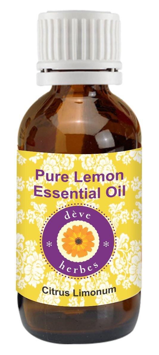 Pure Lemon Essential Oil 30ml (Citrus limonum) 100% Natural Therapeutic Grade (1.01 oz) Deve Herbes