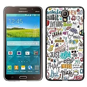 EJOY---Cubierta de la caja de protección para la piel dura ** Samsung Galaxy Mega 2 ** --Escritura Drawn Diversión mano del arte