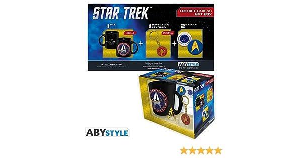 ABYstyle - STAR TREK - confezione - taza + llavero + Starfleet pins: Amazon.es: Juguetes y juegos