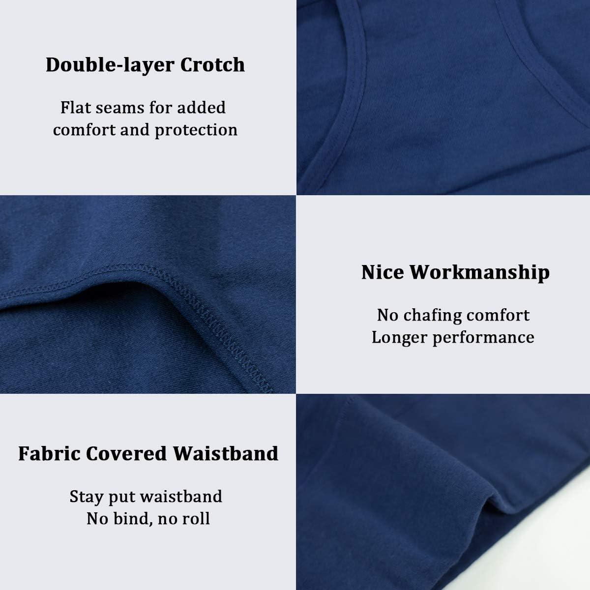 wirarpa Ladies Underwear Cotton Full Briefs High Waist Knickers Underwear Panties for Women Multipack