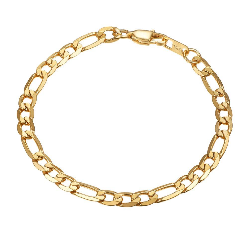PROSTEEL Men Women Children Stainless Steel Figaro Link Chain Bracelet 6mm/9mm/13mm 7.5''/8.3'' Prosteel Jewelry PSH3113H-19-NA