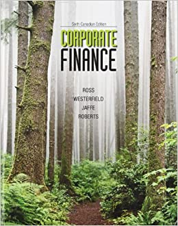 corporate finance 6th canadian edition westerfield