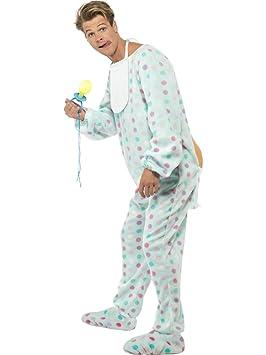 Smiffys - Disfraz de pijama para hombre, talla 48-50 (24801M)