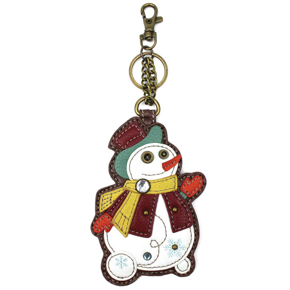 Chala Pal Purse Charm, Key-Fob, Decorative Coin Purse-2018 New (Snowmen)