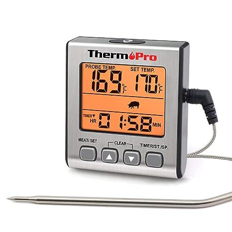 ThermoPro TP16S Termómetro Cocina Termómetros de Barbacoa Digitale ...