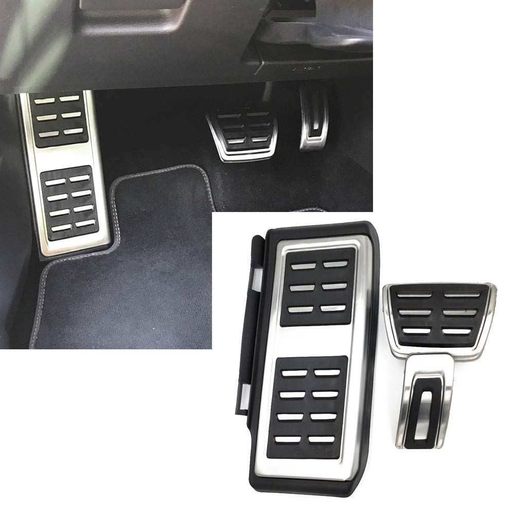 LIUYE Gas Brake Pedal Cover Fit for Audi A4 A5 A6 A7 A8 Q5 at LHD Audi Pedals