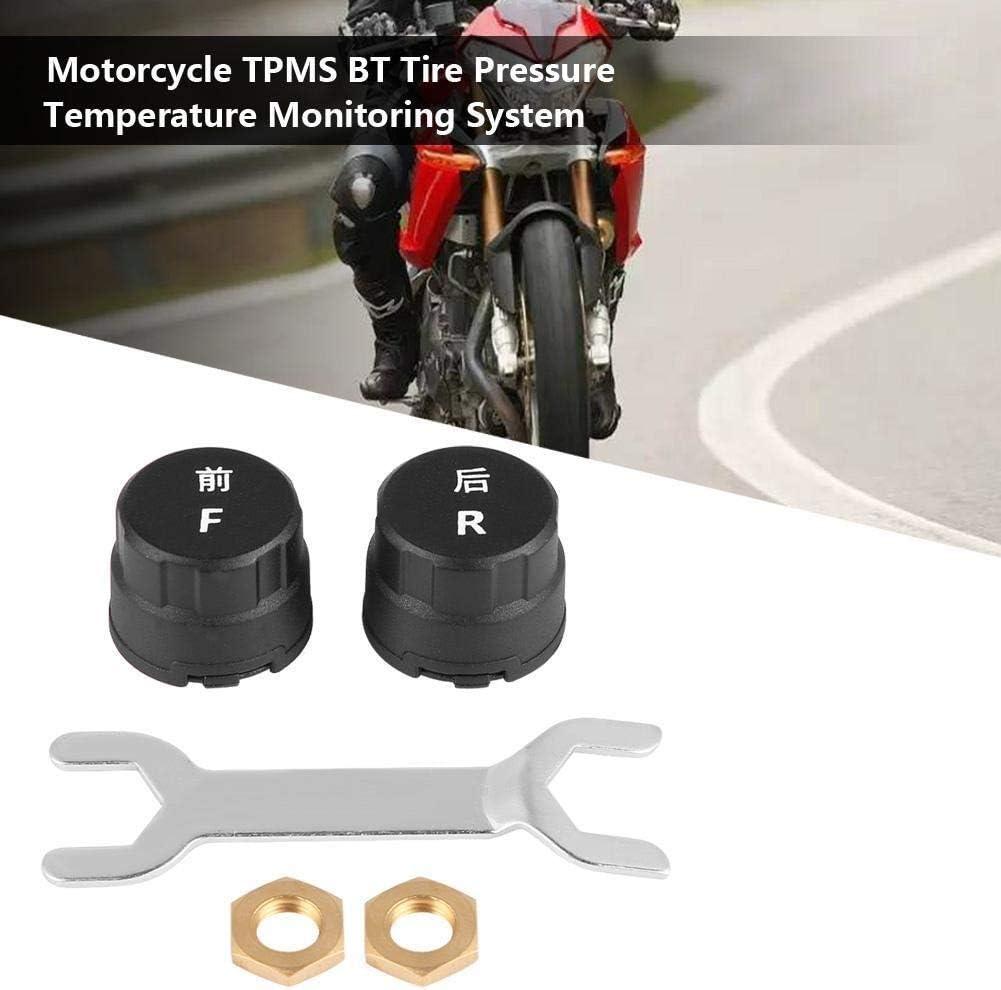 moto TPMS BT pneus Temp/érature de surveillance de la pression du syst/ème for iOS//Android W//Tire capteur. TPMS SAEC