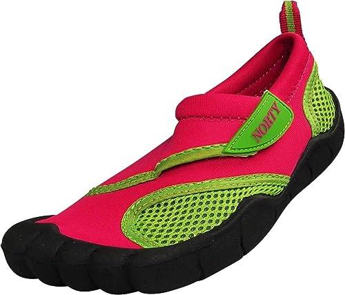NORTY niños/niños Calcetines de Agua - Resistente al Agua Slip-On Zapatillas para Piscina, Playa - 21 Combinaciones de Colores para Las niñas y Boy: ...