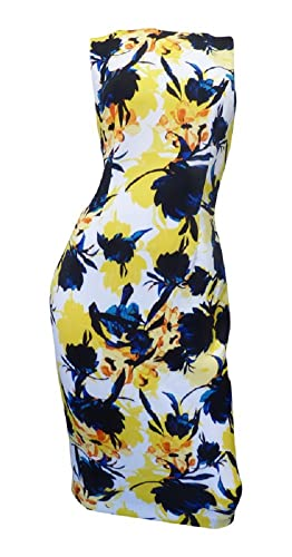 Ivanka Trump Women's Floral Printed Scuba Sheath Dress