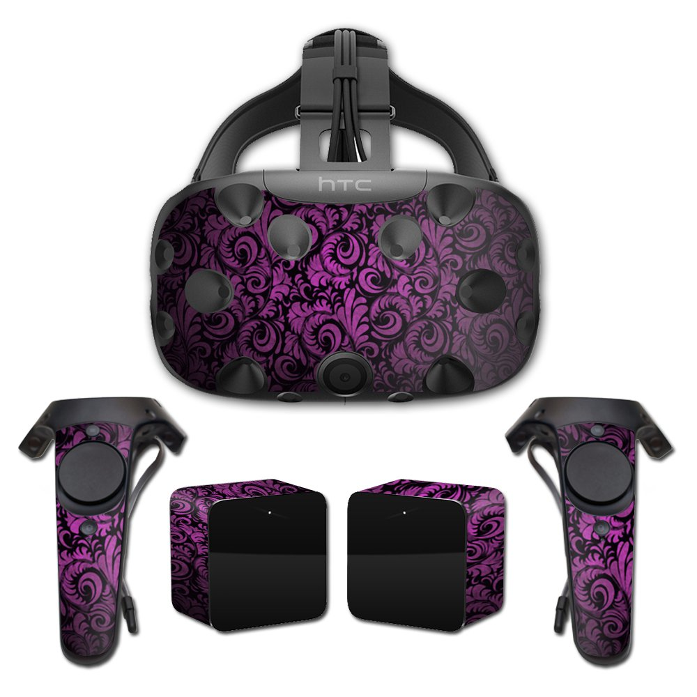 MightySkins Skin For HTC Vive Full Coverage - Purple Style | Protective, Durable, and Unique Vinyl Decal wrap cover | Easy To Apply, Remove, and Change Styles | Made in the USA