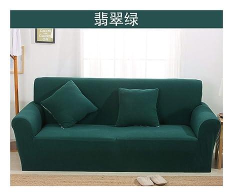 VGUYFUYH Sofá Jade Verde Sofá Cubierta Engrosamiento Tejido ...