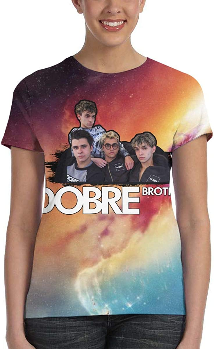 Womens Summer Dye Dobre Brothers Lucas and Marcus Dobre Tee T Shirt Short Sleeve Tshirt for Women T-Shirt Crew Neck Clothes