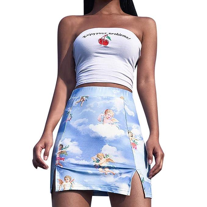 Beikoard ❤ Faldas Mujer Cortas,Moda Mujer Estampado de ...