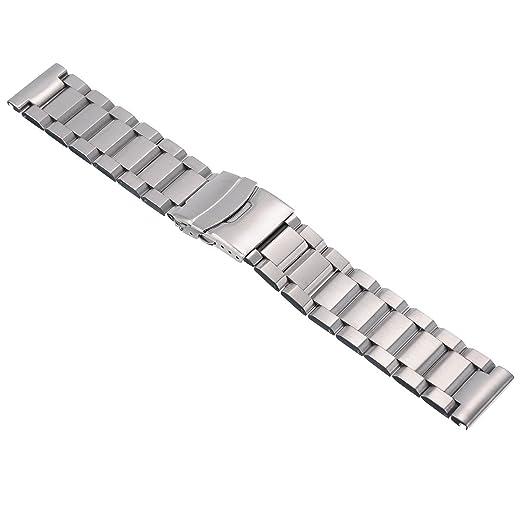 22mm Unisex Acero inoxidable Correa para relojes Correa de roloj venda de reloj: Amazon.es: Relojes