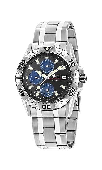 Lotus Reloj Cronógrafo para Hombres de Cuarzo con Correa en Acero Inoxidable 15301/7: Amazon.es: Relojes