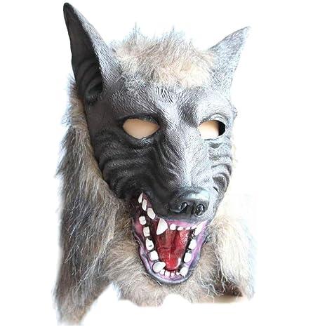 Homeofying - Máscara de látex con Cabeza de Lobo para Disfraz de Halloween