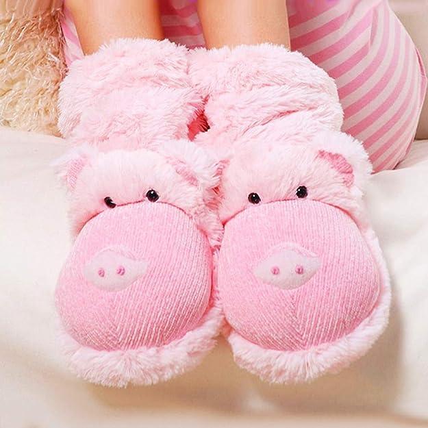 Aroma Home Fun for feet Fuzzy Kids-Pantoufles Licorne Convient Jusqu/'à Taille UK 4