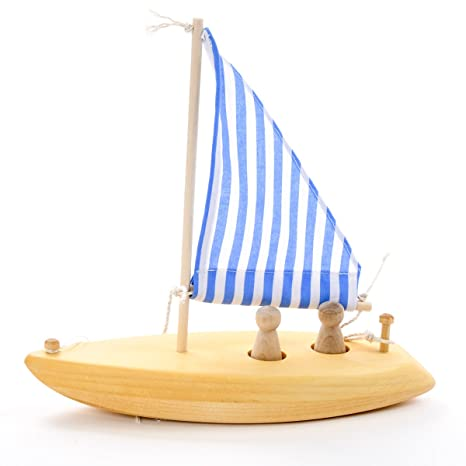 Amazon Com Wooden Toy Sailboat Made In Usa Toys Games
