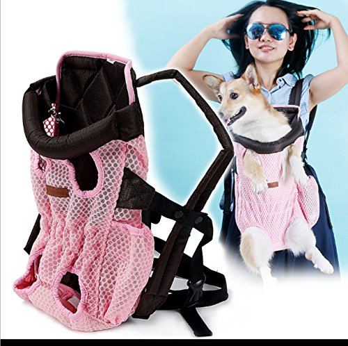 Pet Carrier Dog/Cat/Puppy/Ultralight Mesh Transpirable Carrier Soft Shoulder Carrier Para exteriores, compras, viajes (Color...